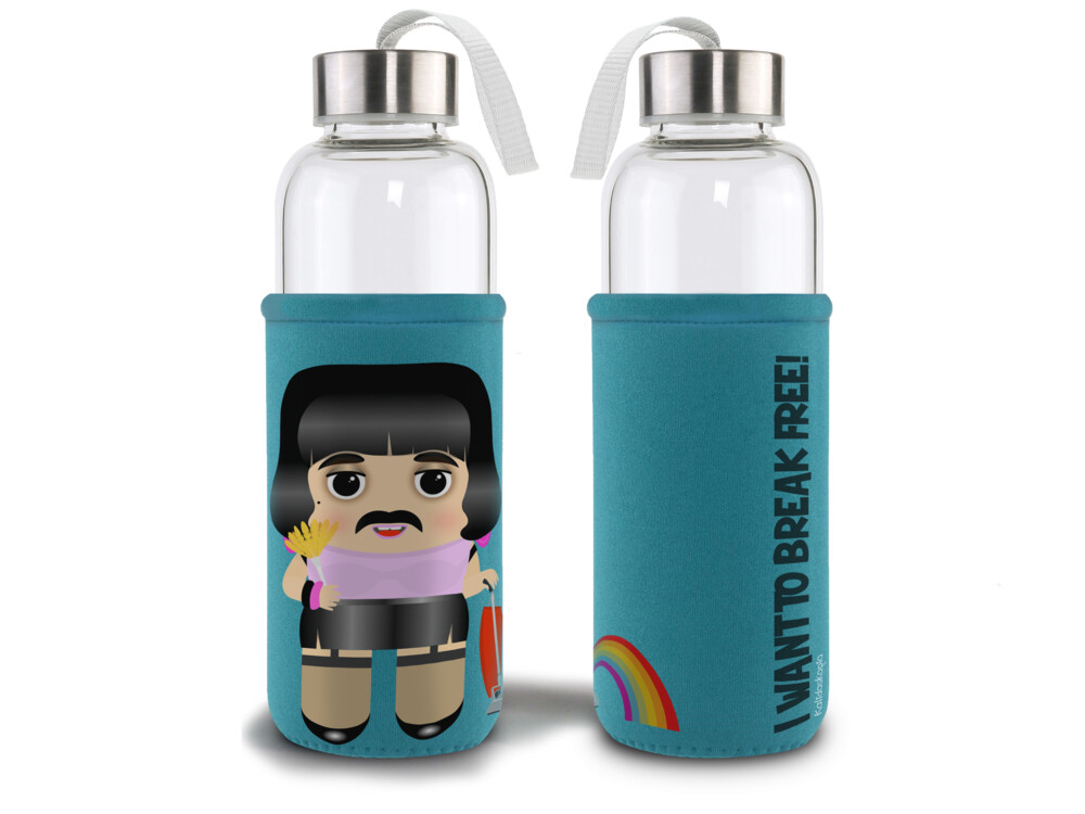 Botella cristal con funda Freddie Break Free