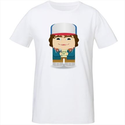 Camiseta Dustin Stranger Things - Hombre | Kalidoskopio